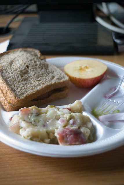 Grove Lunch - Sandwich and Potato Salad | The cucumber salad ...