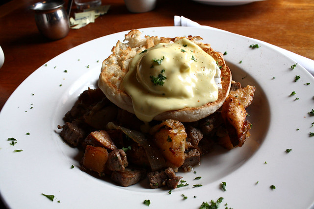 Poached Egg on Steak Hash | Flickr - Photo Sharing!