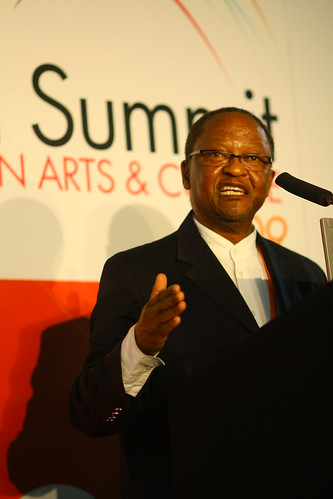 Professor Njabulo Ndebele, keynote speaker at the 4th World Summit on Arts & Culture