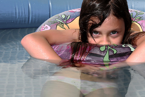 Clarita at the pool