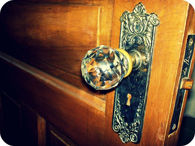 a bathroom door knob circa 1898