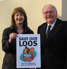 Liz Leffman and Peter Mason are campaigning against Conservatives plans to close the loos in Bishops Waltham  See www.saveourloos.com for details