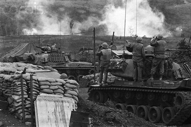 Tanks on Allied Territory in Khe Sanh - ca. March 1968