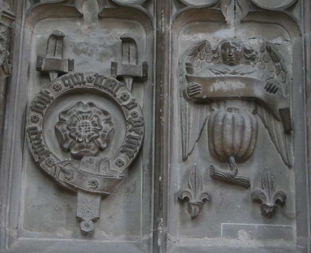 Katherine of Aragon's badge on Prince Arthur's chantry chapel