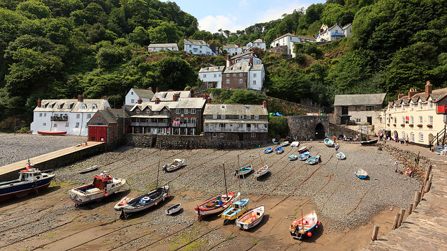 Clovelly Harbour at Low Tide