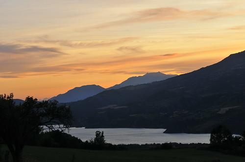 sunset alpes lac paca barrage hautes montagnes serreponcon mywinners serponcon