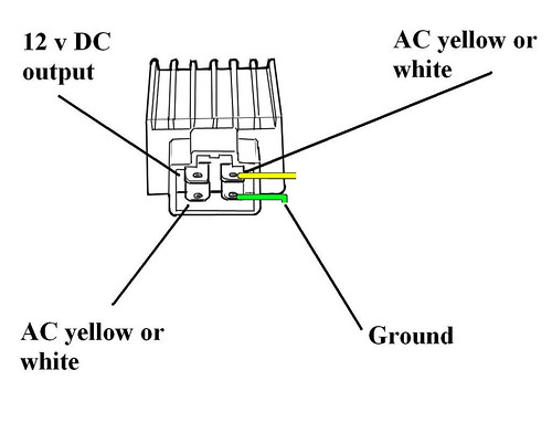 4 pin regulator rectifier wiring diagram   40 wiring