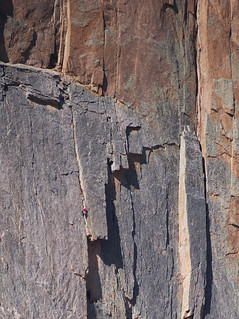 Climbers on the Diamond, Longs Peak east face