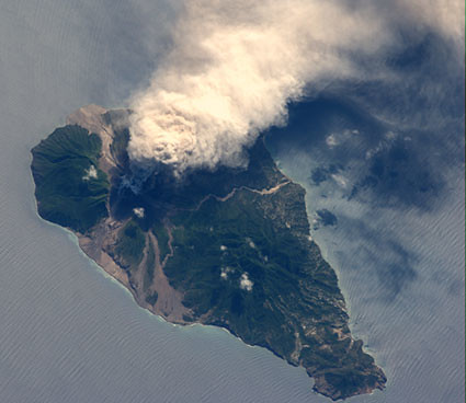 Soufriere Hills Volcano, Montserrat Island (NASA, International Space Station Science, 10/11/09)