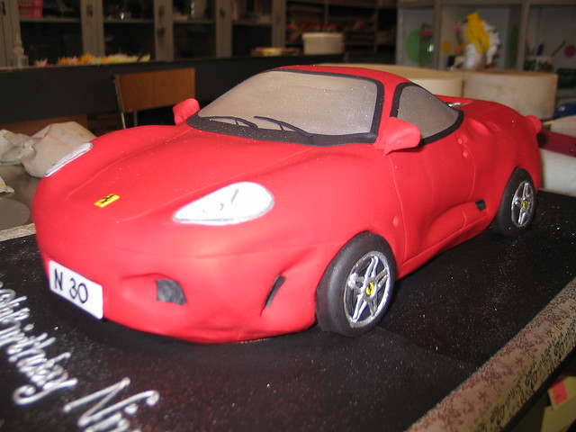 3D Ferrari car shaped birthday cake - a photo on Flickriver