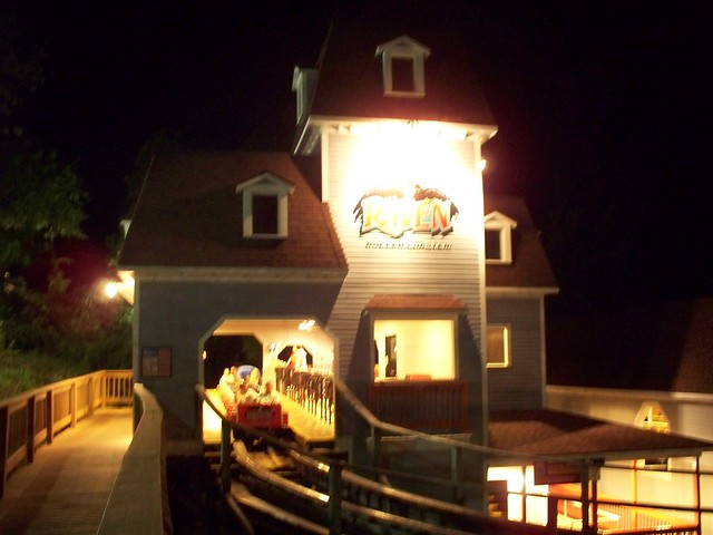 Holiday World - The Raven Station at Night
