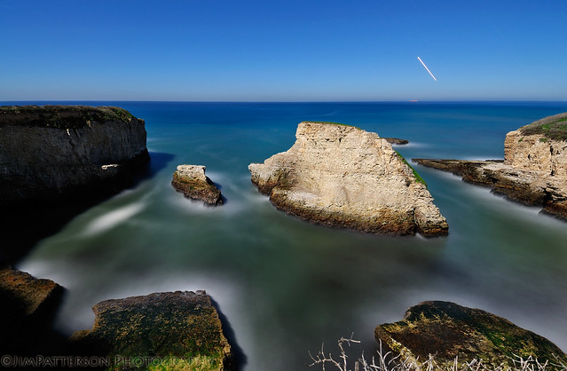 Shark Fin Cove by Moonlight - Davenport, California
