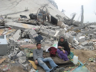 Gaza, homeless people in Alatara