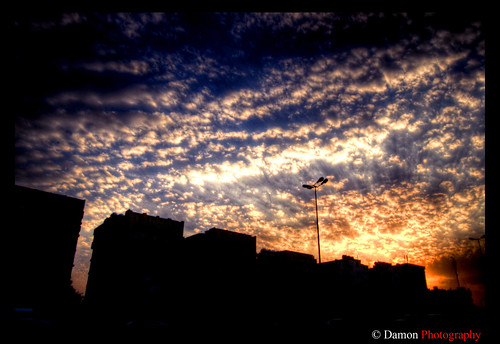 street morning blue sunset red sky cloud sun silhouette set clouds sunrise geotagged evening high nikon dynamic kuwait rise range damon hdr q8 d40 platinumphoto nikond40 geo:lat=2931166 geo:lon=47481766