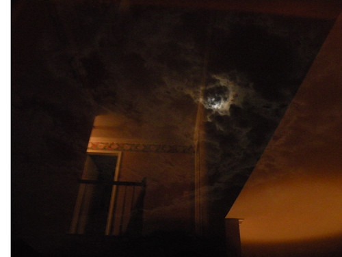 Moon in the window.