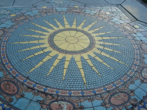 Astrology Tile Mosaic, Ringling's Mansion (Courtyard)