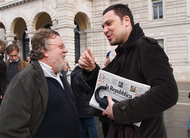 Luca Visentini (a destra)
