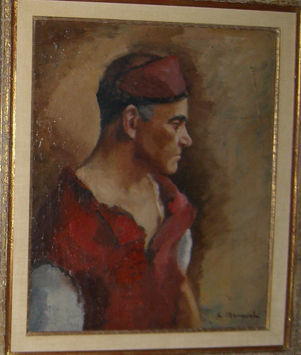 Man in red vest