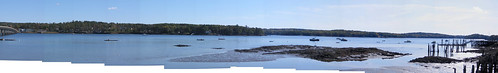sky panorama water river maine wiscasset edgecomb sheepscot