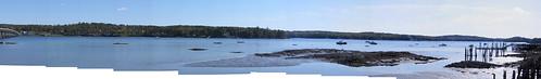 sky panorama water river maine wiscasset edgecomb sheepscot