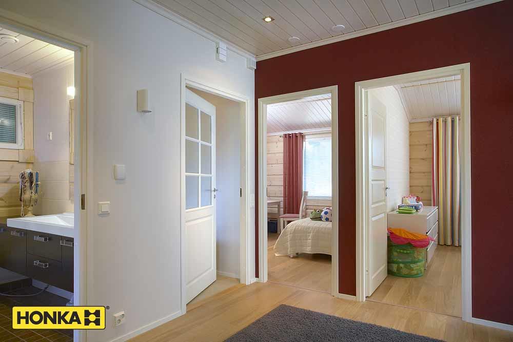Honka plain pied interieur contemporain et murs rouges | Flickr