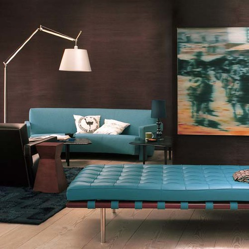 Photo for Brown and turquoise living room ideas