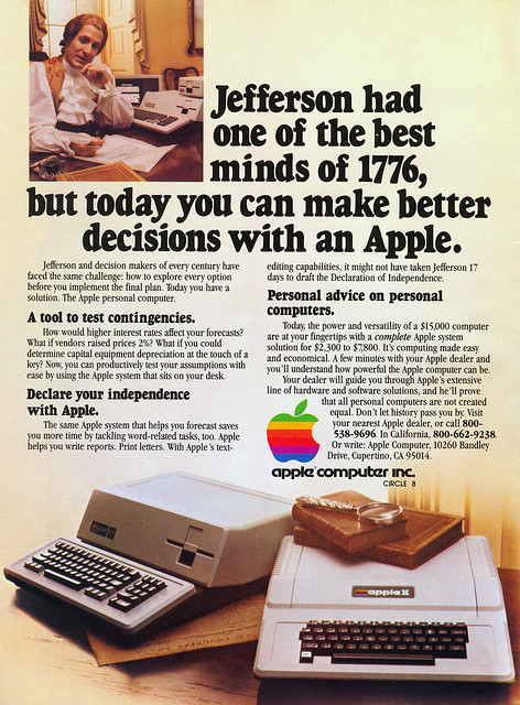 Apple II/III advertisement from Personal Computing 5/81
