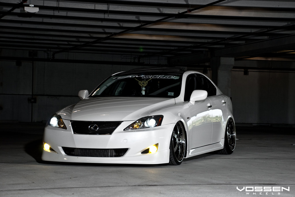 crazy dropped vip lexus is350 with vossen vvs 084 wheels. Black Bedroom Furniture Sets. Home Design Ideas