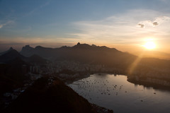 The view of Rio de Janeiro from Sugarloaf Mountain
