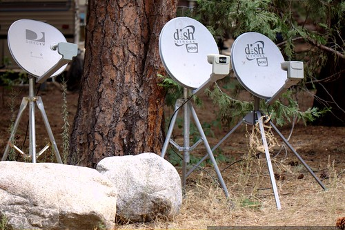 satellite dishes, presumably property of the campground host    MG 4352