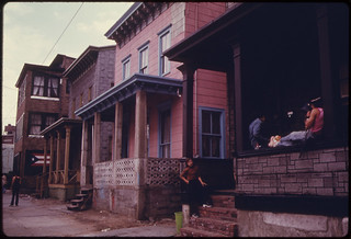 Street of Homes in the Inner City of Paterson, New Jersey ... 06/1974