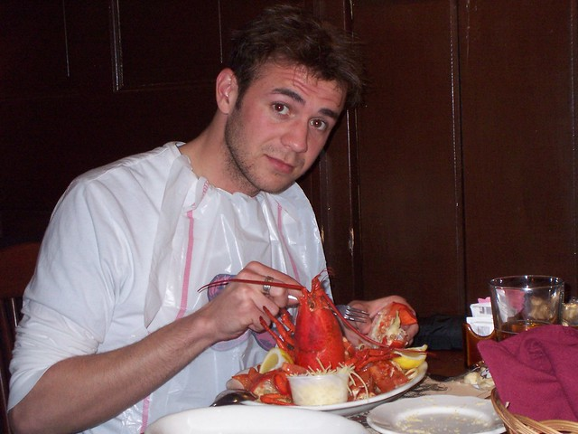 fox's first lobster in the shell