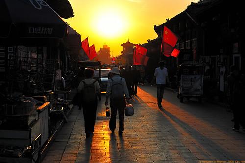 light sunset shanxi pingyao 古镇 2470mm 平遥 山西 d700 hangean