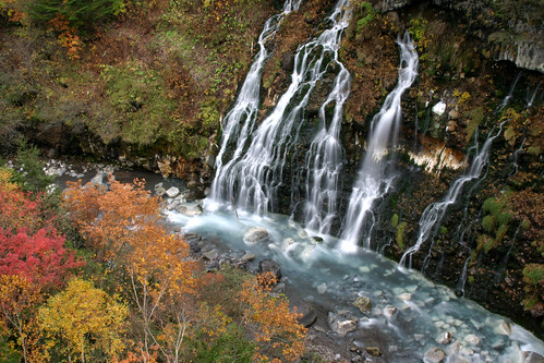 autumn fall colors leaves japan canon river aj eos waterfall scenery kiss hokkaido foliage 北海道 日本 biei 滝 美瑛 brustein 白髭