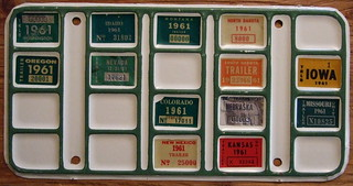 1961 TRUCKER'S BINGO BOARD PLATE for SEMI TRAILERS