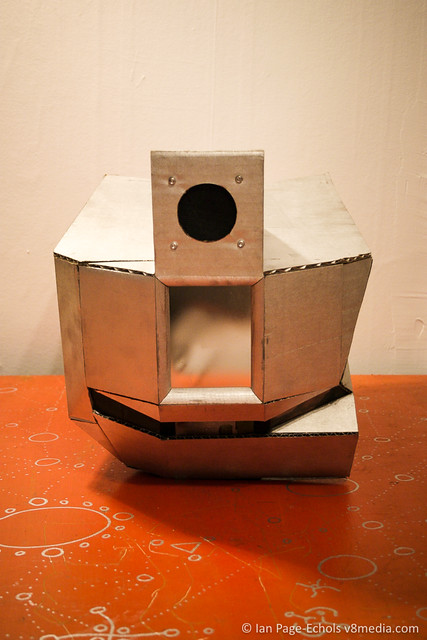 "Robot Costume ""Helmet"" With LCD Waveform Display & Speaker"