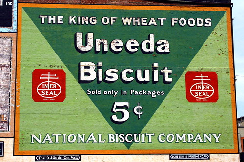 Vintage Uneeda Biscuit ad - Roanoke, VA