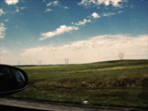 Views from the Road - Kansas Electrical Pylons by Juli Kearns (Idyllopus)