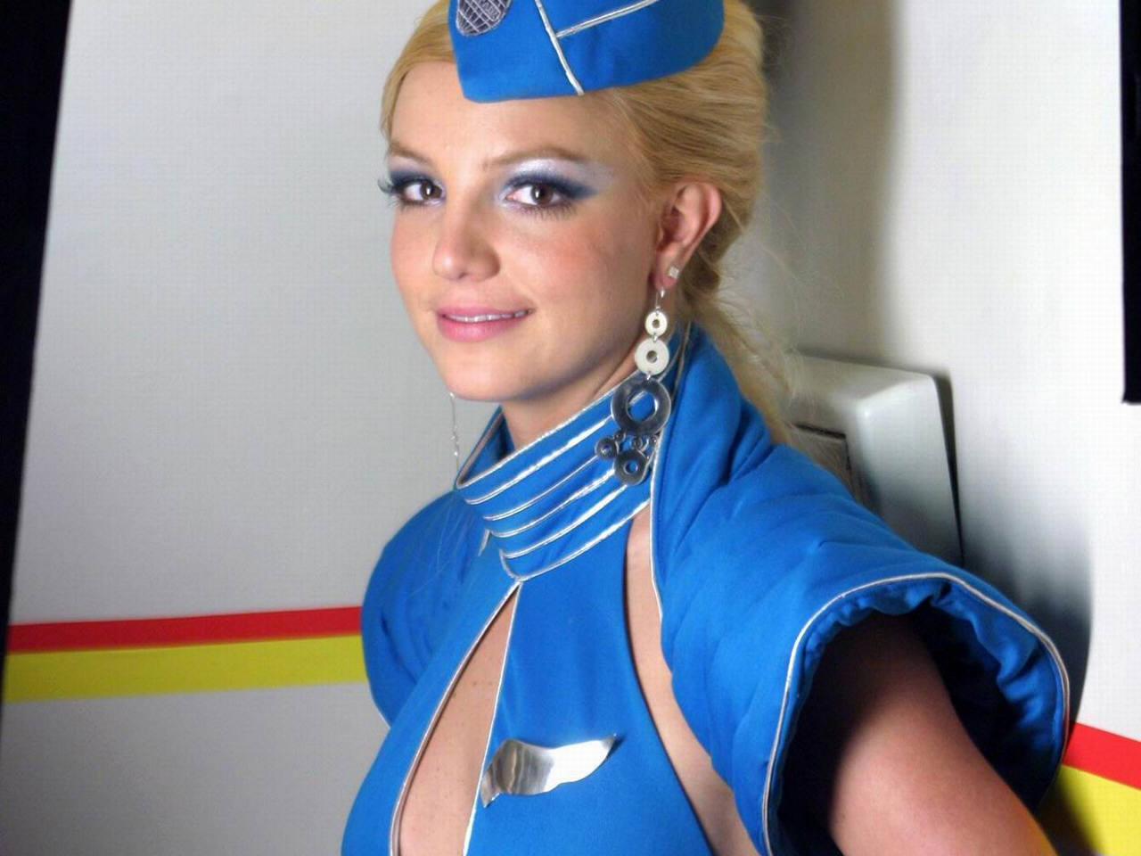 What the air hostess is really thinking as you board a plane.  Toxic Britney Spears Flight Attendant