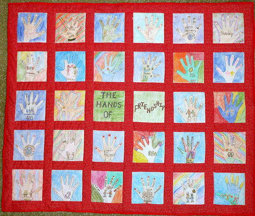 Classroom Quilt Themes ~ Susie can stitch red fundraiser quilt