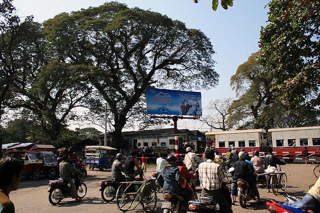 Railway crossing @ Myitkyina station