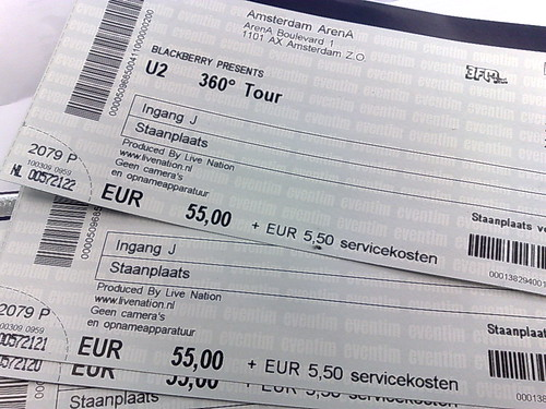 u2 tickets amsterdam 20th july. Black Bedroom Furniture Sets. Home Design Ideas