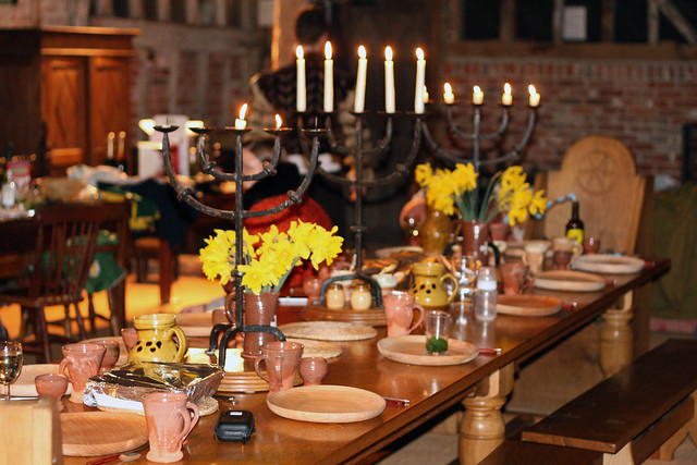Table for tudor feast flickr photo sharing
