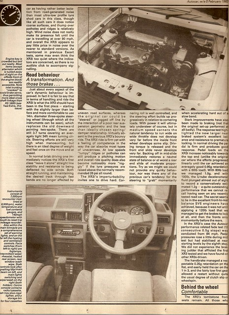 Ford Escort XR3i Mk3 Test 1983 3