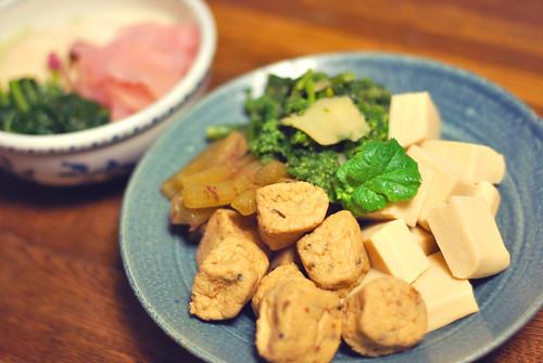 ふき がんも 高野豆腐 菜の花 / みっちゃんの料理