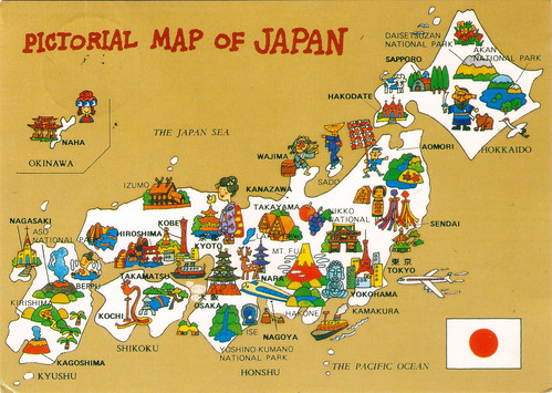 Pictorial map of Japan by trudeau
