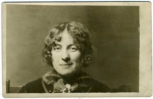 Real Photo Postcard, Anonymous Woman, Philadelphia, Pennsylvania