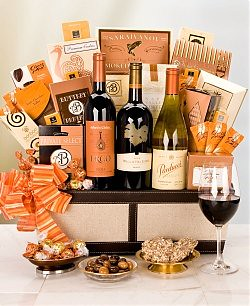 Luxury wine chocolates gift basket mothersdaygiftsbaskets for Luxury gifts for mom