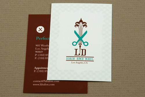 Hair and Nail Salon Business Card