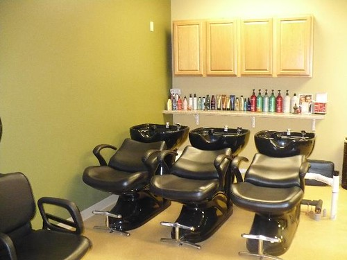 beauty salon interior design hair salon backwash area a. Black Bedroom Furniture Sets. Home Design Ideas